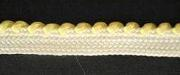 Braid Two-tone; White/Primrose, price per mtr