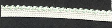 Braid Two-tone; White/Willow Green, price per mtr
