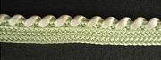 Braid Two-tone; Light Green/White, price per mtr