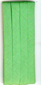 12mm Bias Binding Lt Green Cotton Folded x 6m