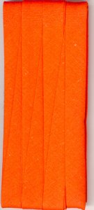 12mm Bias Binding Tangerine Cotton Folded x 6m