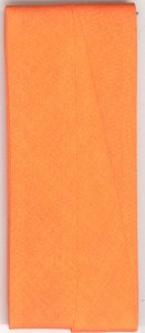 25mm Hem Facing Orange Cotton Folded x 3m