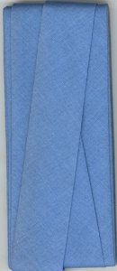 25mm Hem Facing Pale Blue Cotton Folded x 3mtr