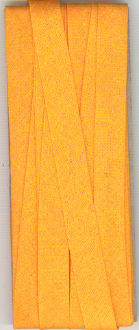 12mm Bias Binding Apricot Cotton Folded x 6m