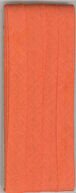 12mm Bias Binding Burnt Orange Folded x 6m