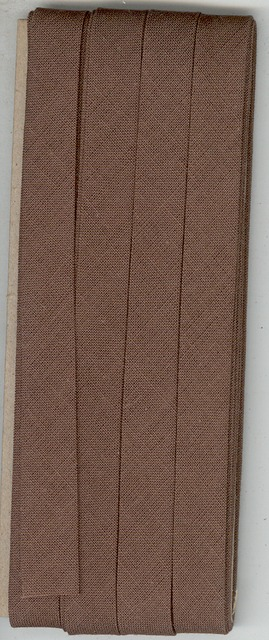 12mm Bias Binding Brown Cotton Folded x 6m