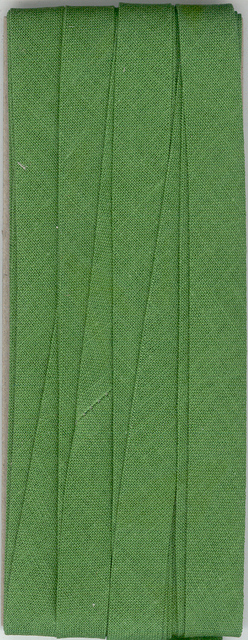 12mm Bias Binding Sage Cotton Folded x 6m