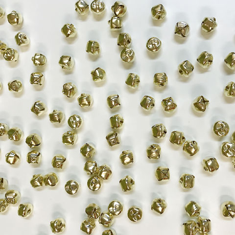 Jingle Bells Gold 10mm 100p