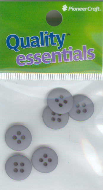 12mm Plastic 4 hole Sewon Button pkt6