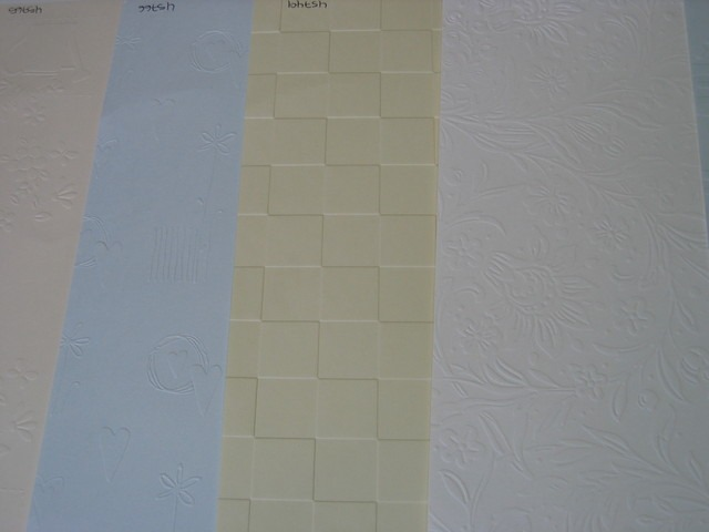 5 sheets of Embossed Card