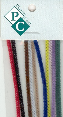 Chenille Sticks 3mm; Multi 10p. Length 30cms