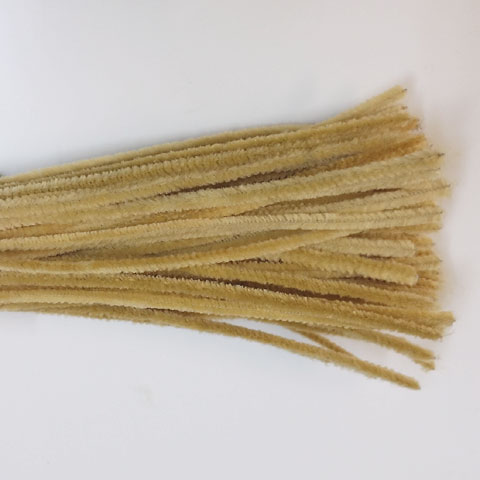 Chenille Sticks 6mm; Beige