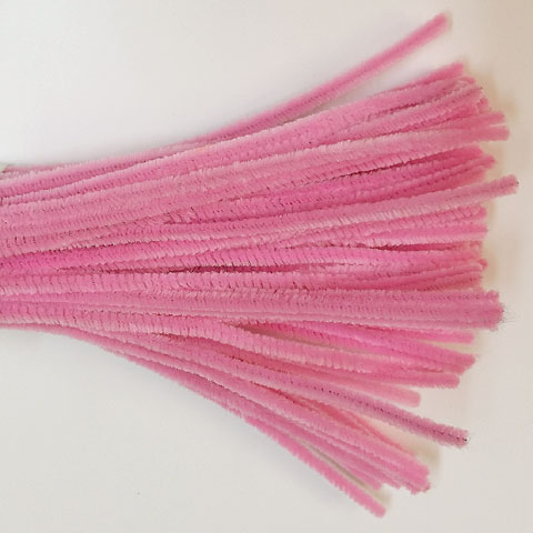 Chenille Sticks 6mm; Blossom Pink