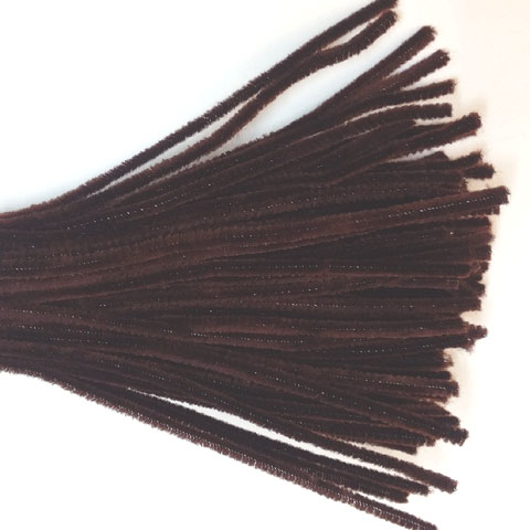 Chenille Sticks 6mm; Brown