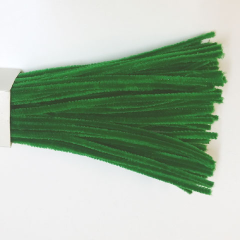 Chenille Sticks 6mm; Emerald