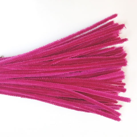 Chenille Sticks 6mm; Fuschia