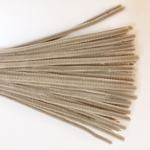 Chenille Sticks 6mm; Grey