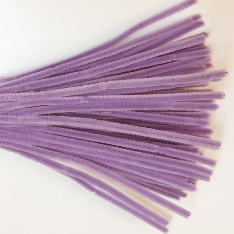 Chenille Sticks 6mm; Lilac