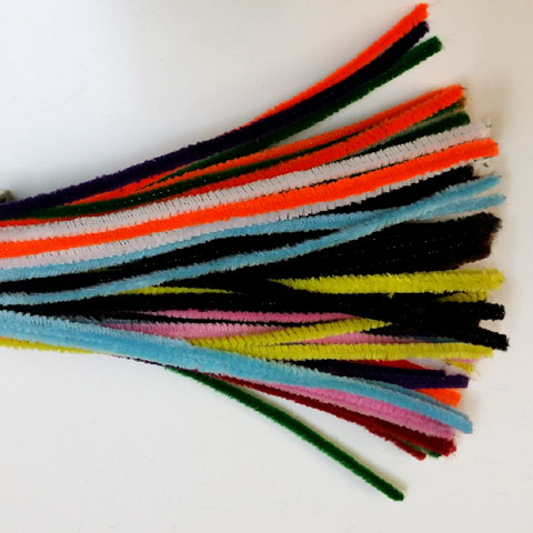 Chenille Sticks 6mm; Multi