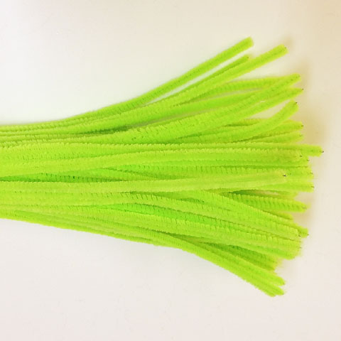 Chenille Sticks 6mm; Neon Green