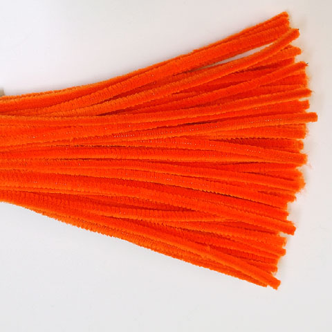 Chenille Sticks 6mm; Orange