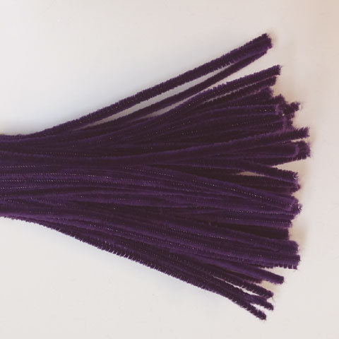 Chenille Sticks 6mm; Purple
