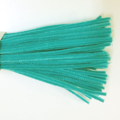 Chenille Sticks 6mm; Turquoise