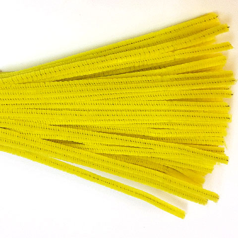Chenille Sticks 6mm; Yellow