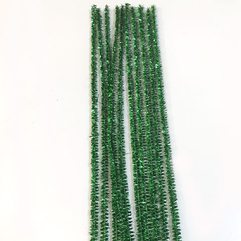 Glitter/Chenille Stem/Pipe Cleaner/6mm Green