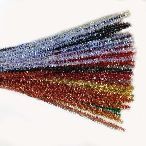 Glitter/Chenille Stem/Pipe Cleaner/6mm Mixed