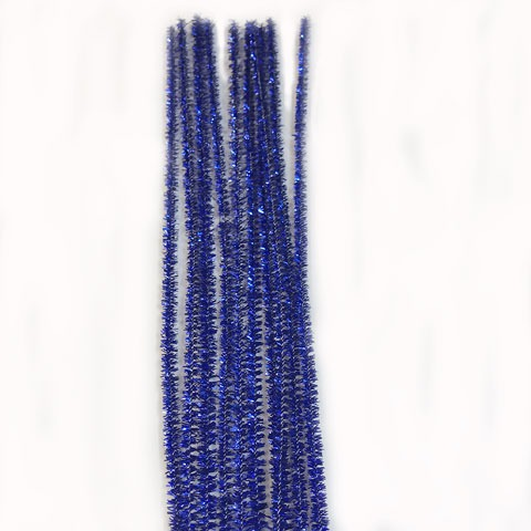Glitter/Chenille Stem/Pipe Cleaner/6mm Royal