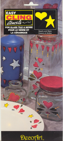 DecoArt Easy Cling Ultra Stencil Hearts & Stars
