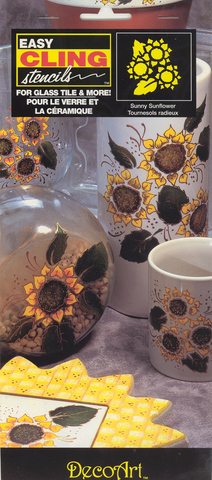 DecoArt Easy Cling Ultra Stencil Sunny Sunflower