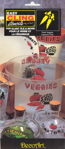 DecoArt Easy Cling Ultra Stencil Fresh Veggies