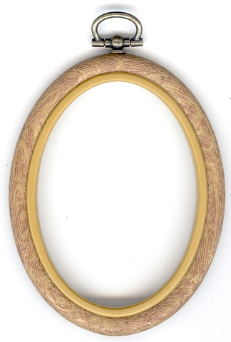 Flexi Hoop Oval 2x3in; Wood Grain 1p