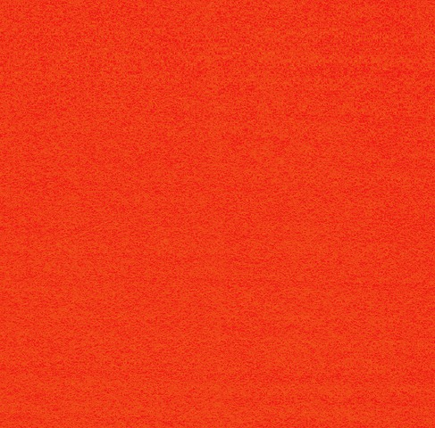Orange Felt per metre 93cm wide, 1 mts one off piece