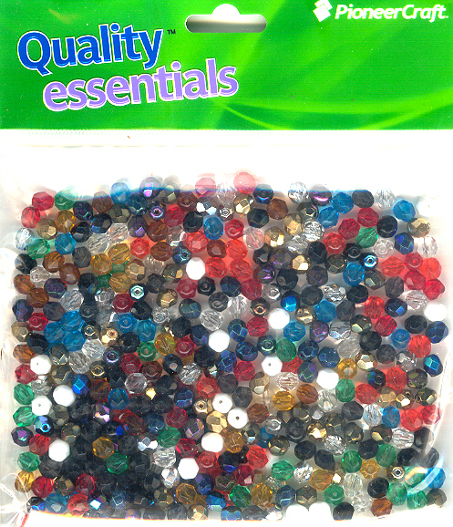 6mm Czech Fire Polished Facet Bead Mixed 100g