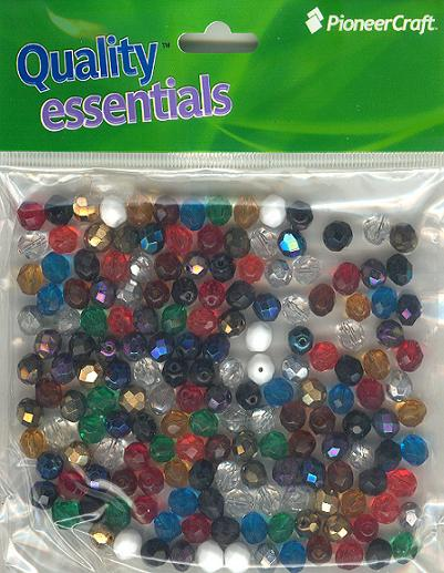 8mm Czech Fire Polished Facet Beads Mixed 100g