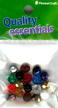 8mm Faceted Beads; Mixed 10 grams