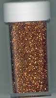 Fine Glitter .3mm 6g Vial, Copper