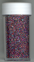 Fine Glitter .3mm 6g Vial, Mixed colour