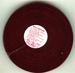 25mtr x 12mm Bias Binding Brown Folded