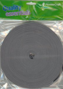 25mtr x 12mm Bias Binding Mid Grey (545)