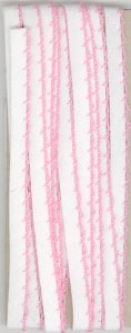6mm Fancy Bias Binding Pink Cotton Folded x 3m