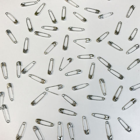 19mm Safety Pins Nickel 1000p
