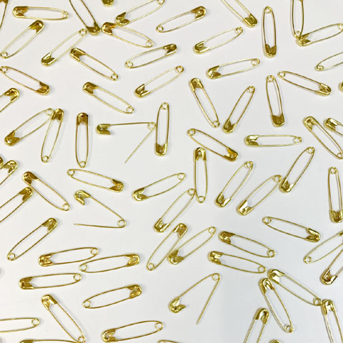 28mm Safety Pins Gold 1000p