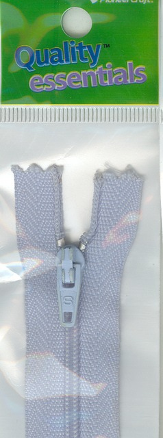 Zip Fastener 20cm, Light Blue No3 Closed End