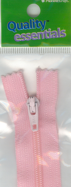 Zip Fastener 20cm, Pink No3 Closed End