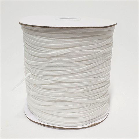 Knitted Elastic 3mm White Full Roll 320m