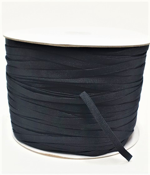 Knitted Elastic 6mm Black Full Roll 320m